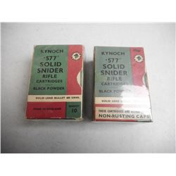 EMPTY ANTIQUE KYNOCH 577/450 MARTINI HENRY BOXES