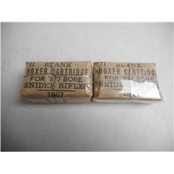 EMPTY ANTIQUE 577 SNIDER RIFLE BLANK BOXES