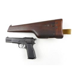WWII ERA, BROWNING/INGLIS  , MODEL: 1935 HIGH POWER NO I MKI  , CALIBER: 9MM LUGER