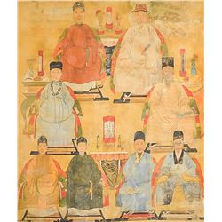 Chinese Qing Period Imperial Portrait Watercolor