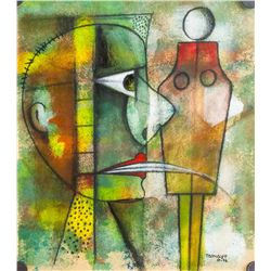 Mexican Pastel Abstract Signed Tamayo