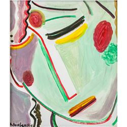 Gouache on Paper Signed A. Jawlensky Portrait