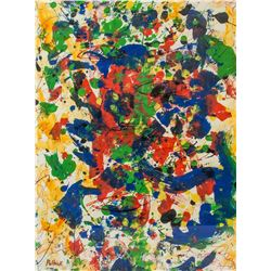 American Acrylic Abstract Signed Pollock