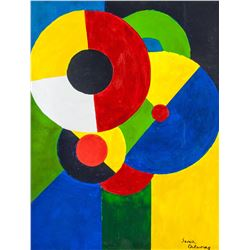 French OOC Abstract Signed Sonia Delaunay