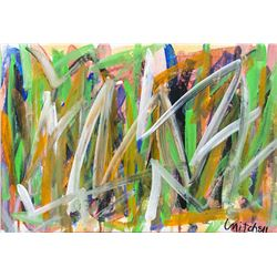 American Oil on Canvas Abstract Signed Mitchell