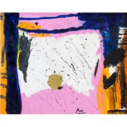 American Oil Abstract Signed RM