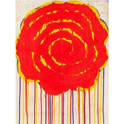 American Oil on Canvas Abstract Cy Twombly