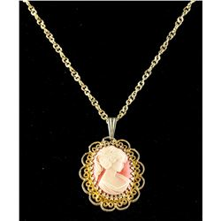 Cameo North Star 17 Jewels Watch Pendant Necklace