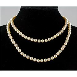 Genuine Cultured Pearl Necklace with COA