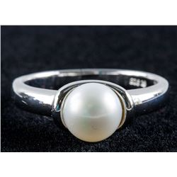 Genuine Pearl Sterling Silver Ring Size 9 925 Mark