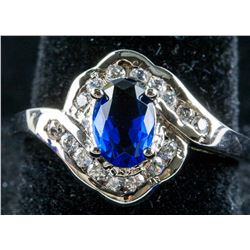 14k Gold Sapphire and Topaz