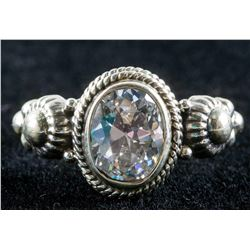 White Topaz Sterling Silver Ring Size 7