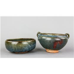 Two Chinese Junyao Type Porcelain Bowls