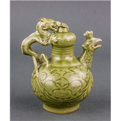 Chinese Longquan Porcelain Inverted Ewer