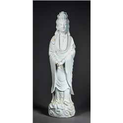 Chinese White Blanc de Chine Carved Guanyin