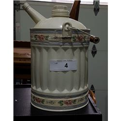 VINTAGE PAINTED GALVANIZED WATER CAN