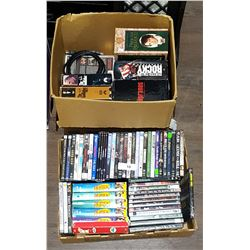 2 BOX LOTS DVDS & VHS MOVIES