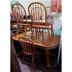 5 PIECE OAK DINING SET