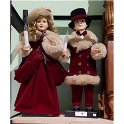 PAIR CHRISTMAS FIGURES