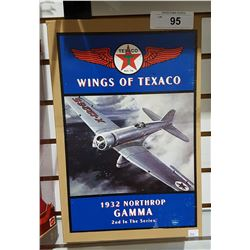 NEW IN BOX WINGS OF TEXACO DIE CAST 1932 NORTH ROP GAMMA PLANE