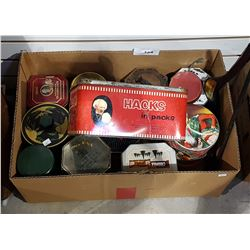 BOX LOT COLLECTIBLE TINS