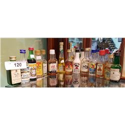 15 VINTAGE MINI LIQUOR BOTTLES