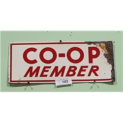 CO-OP MEMBER TIN SIGN