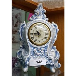 VINTAGE CERAMIC MANTEL CLOCK