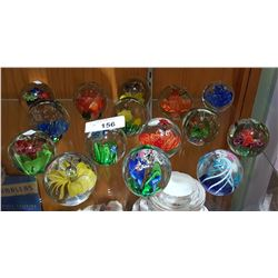 15 ART GLASS PAPER WEIGHTS