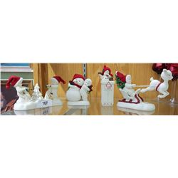 4 SNOWBABIE FIGURINES