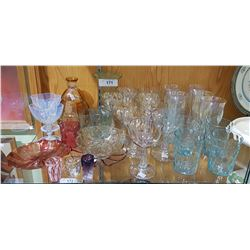 APPROX 34 PCS VINTAGE ART GLASS