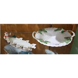 2 PCS FIT AND FLOYD CHRISTMAS SERVING WARE