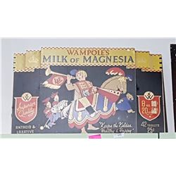 VINTAGE MILK OF MAGNESIA CARDBOARD SIGN
