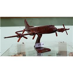 WOOD MODEL OF P-3 AIRPLANE