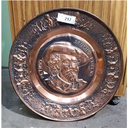 VINTAGE EMBOSSED COPPER PLATE