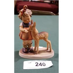VINTAGE GOEBEL W. GERMANY FIGURINE GIRL WITH DEER