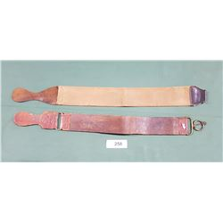 2 ANTIQUE RAZOR STROPS