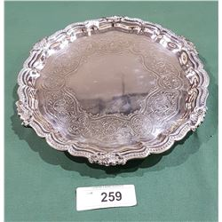 ANTIQUE QUALITY SILVERPLATE TRAY