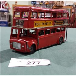 VINTAGE TIN DOUBLE DECKER BUS