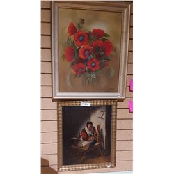 2 FRAMED OIL PAINTINGS
