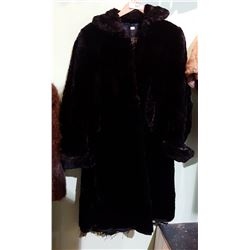 VINTAGE RABBIT FUR COAT