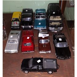 9 DIE CAST VEHICLES