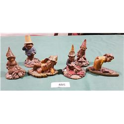 6 GNOME FIGURINES SIGNED