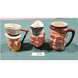 3 ENGLISH CHARACTER MUGS