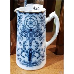 ANTIQUE ENGLISH FLOW BLUE PITCHER