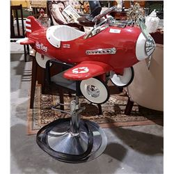 UNIQUE SKY KING AIRPLANE CHILD'S BARBER CHAIR