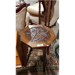 CUSTOM HAND CARVED OCCASIONAL TABLE WITH GRIFFON MOTIF