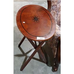 OVAL INLAID SIDE TABLE