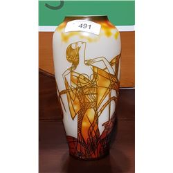 ART DECO STYLE GALLE CAMEO ART GLASS VASE