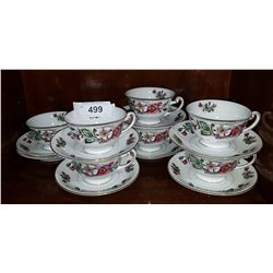 SET OF 7 OCCUPIED JAPAN TEACUPS/SAUCERS